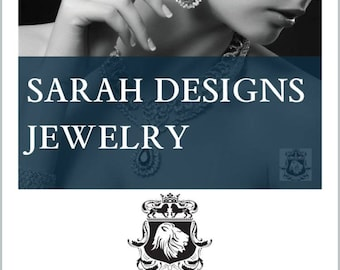 Exclusive Designs on www.sarahdesignsjewelry.com Check out at Etsy Pattern Site and recieve complimentary gift wrapping service.