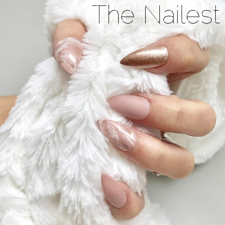 Die erste Liebe Rosa Marmor Nude Rose Gold Matt Presse auf