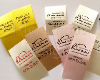 """Satin Labels. Clothing Labels.  Colour Ribbon 1"""" wide. Personalized labels. Name Tags. Fabric Labels. Custom Fabric Labels"""
