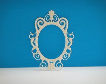 Cut beige mirror for scrapbooking and card frame