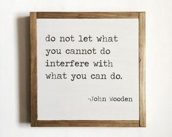 Sport quote, sports decor, John Wooden quote, kids decor, basketball decor, motivational quote