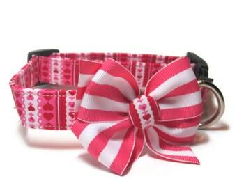 Valentine Dog Collar size Medium