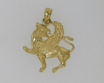 Handmade Griffin Pendant in Gold Made to Order