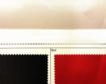 Cotton backed Corsetry satin - Satin Coutil - BLACK - RED - WHITE