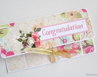 Wedding money holder, Money envelope, Wedding cash gifting, Congratulation envelope, Gift card envelope, Wedding gift