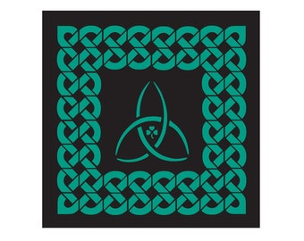 Trinity Knot with Celtic Knot and Shamrock Paper Cut Wall Art Wall Decor St Patrick's Day 5X5 Unframed