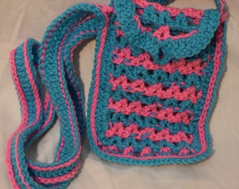 Pink and Blue Purse
