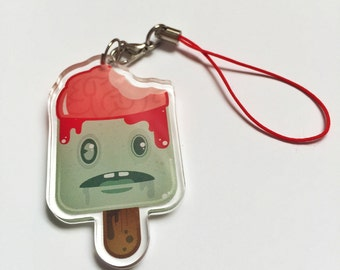 Infected Zombie Pop Keychain by Odds And Aliens