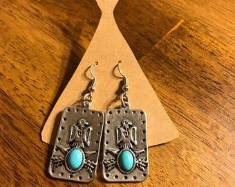 Pheonix and Turquoise Earrings