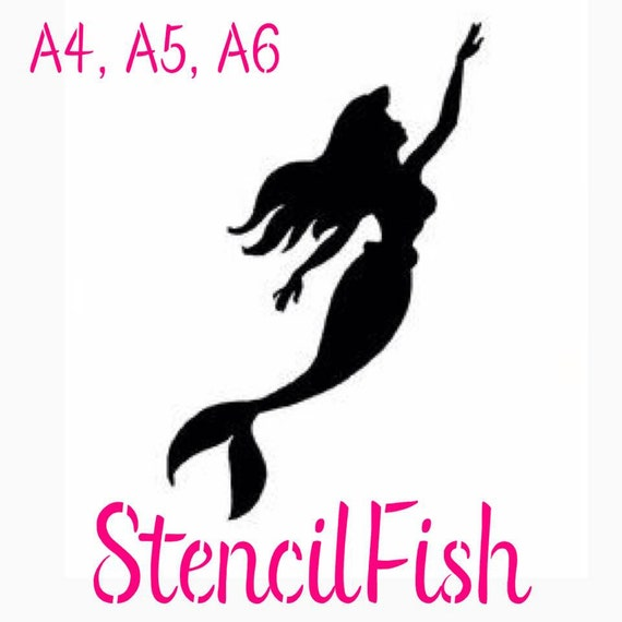 disney princess stencil ariel little mermaid craft silhouette girls