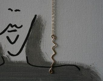 12K gold filed hammered squiggly Earrings, Dangle Dainty Earrings, Gift for her, Custom Jewelry, Minimalistic Earrings, Geometric Earrings