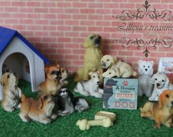 Dollhouse miniature DOG's signs