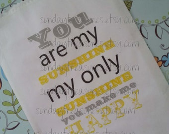 12 You Are My Sunshine / Baby Shower / BIRTHDAY Candy Buffet Party Favor Bags / Custom / Table Decor / 3 Day Ship (reffirstbday)