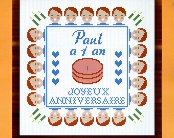 cross stitch Kit counted embroidery hobbies: happy birthday