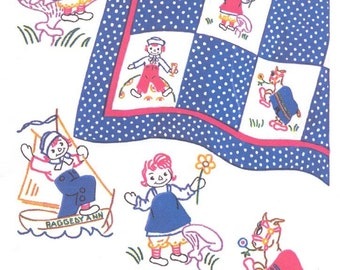 Raggedy Ann with Raggedy Andy & Belinda Quilt Pattern MC1063
