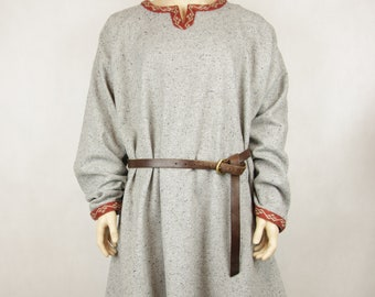 Tunic of Birka, Early Medieval Scandinavian tunic with woven trim Viking tunic Historical Pattern , for Viking Reenactors, Viking Costume