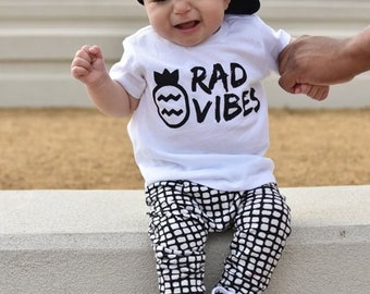 RAD VIBES signature toddler tee, baby tshirt, toddler t shirts, unisex baby clothes, toddler graphic tee, baby graphic tee, hipster clothing