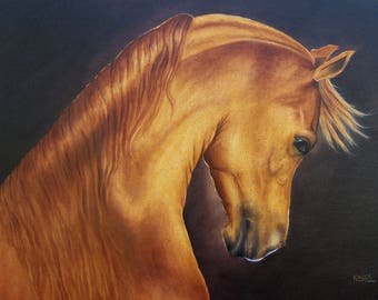 Note Card Greeting Card With Envelope Arabian Horse Art Blank Note Card Hello Card Thank You Card
