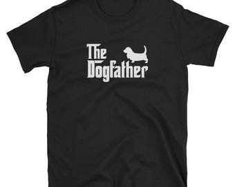 Basset Hound Shirt Gift Dogfather Tee