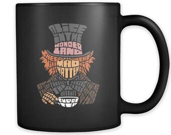 Mad Hatter Typography Coffee Mug