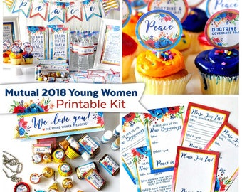 Mutual 2018 Young Women Printable Party Kit | Instant Digital Download