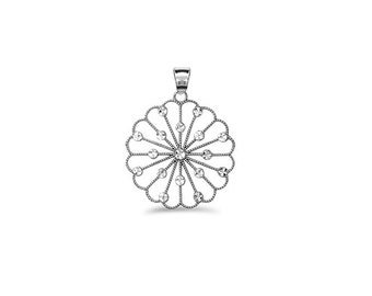 65% OFF SALE - Sterling Silver Circle Pendant