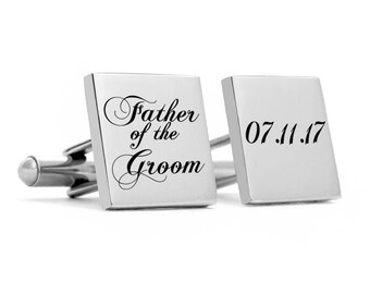 Wedding Cufflinks for Father of the Groom, custom, customized