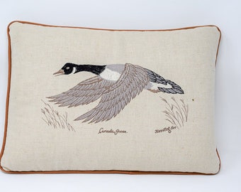Vintage Canadian Geese Pillow