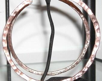 GROßKREISE Ohrringe Silber Messing Neusilber Schmiedeeisen Kupfer Nickel handgemacht Italien S/schöne helle Boho Geburtstag Creolen Ohrringe