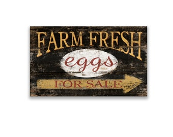 "Farm fresh eggs for sale wooden block sign 10""x5""x2"" farm sign farmhouse sign farm decor farmhouse decor egg signs handmade signs"
