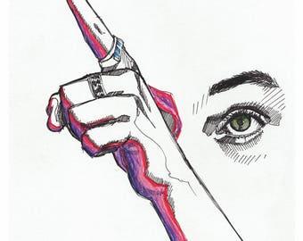 Harry Styles *Hand&Eye* - Art Print