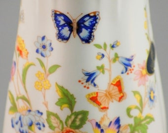ON SALE NOW Aynsley Cottage Garden Bone China 6 Inch Vase With Butterfly