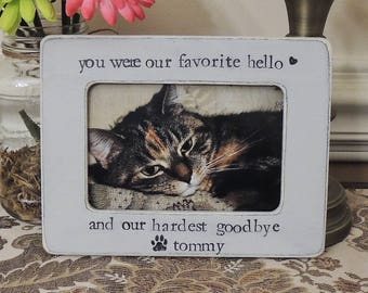 Cat Sympathy Gift Pet loss gift Personalized pet picture Frame Cat Dog Photo sign cat Dog Memorial Frame Pet Lover Gift Loss of Dog Cat
