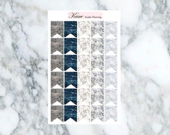 Marble Page Flags