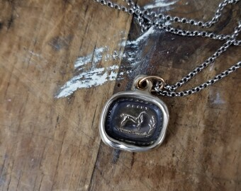 Bronze Blest Horse Necklace - Protection and good fortune 415