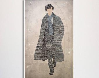 Sherlock Word Art, Sherlock Holmes Art, Word Art Print, Sherlock Holmes Print, Sherlock Art, Sherlock Print, Sherlock Gift, Word Wall Decor