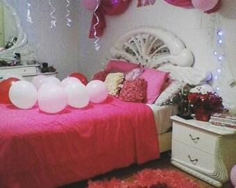 Heart Shaped Pink & Red Romantic Petalos Rug