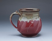 Handmade Pottery Mug Red ...