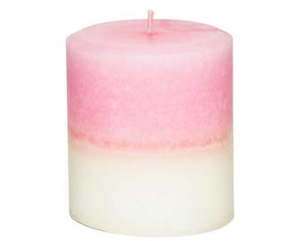 Jasmine Rose Pillar Candle - Gift for Mom