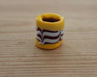 Viking glass Chevron bead