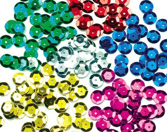 8mm loose sequins (200 pieces/bag)