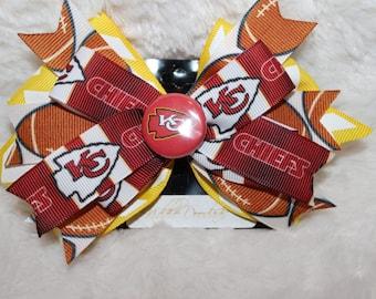 KC Chiefs Hair Bow