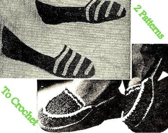 Slippers and Scuffs 2 Crochet Patterns 723027
