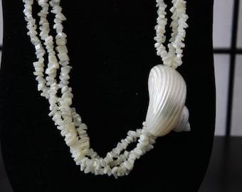 Sea shell beaded necklace