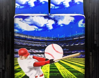 Baseball Bedding Duvet Cover Queen Comforter King Twin XL Size Blanket Sheet Set Baby Crib Toddler Daybed Kids Bed