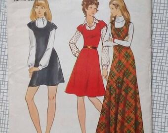 "1970s Jumper - 34"" Bust - Butterick 6815 - Vintage Sewing Pattern"