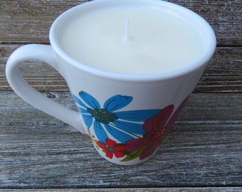 Choose Your Scent - Coffee Mug, All Natural Soy, Scented Candle