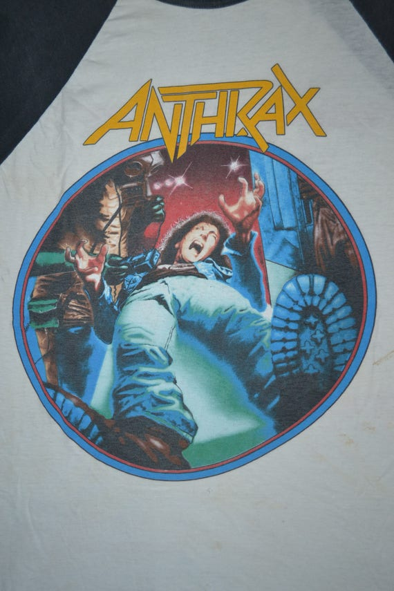Disease Tour Spreading mega Baseball shirt rare The T Concert L Jersey ANTHRAX World Vintage 1986 Size wEHqI