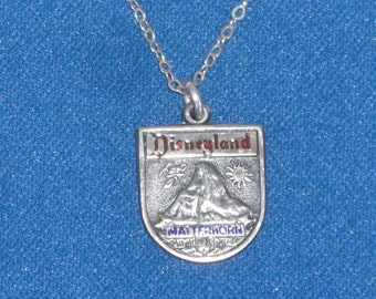 Pendant - Sterling Silver - Disneyland Pendant - On Chain - Matterhorn - Sterling Necklace - Vintage