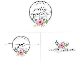 Flower Circle Logo Design Circle Logo Design Handwritten Font Logo